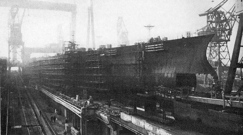 Ulyanovsk aircraft carrier during construction