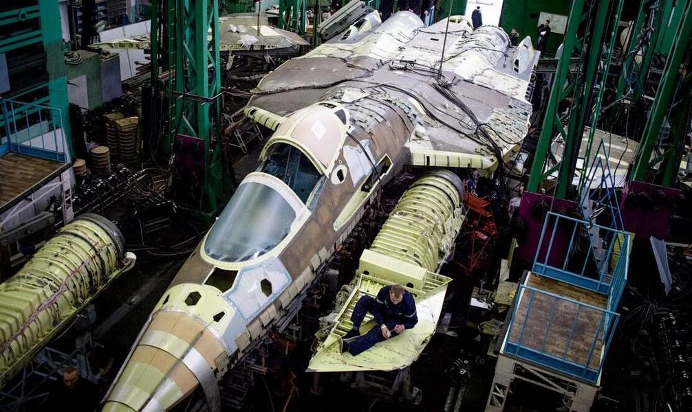 Su-57 assembly line