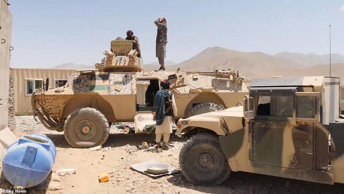 Captured armor vehicle by Taliban from Afghan soldiers