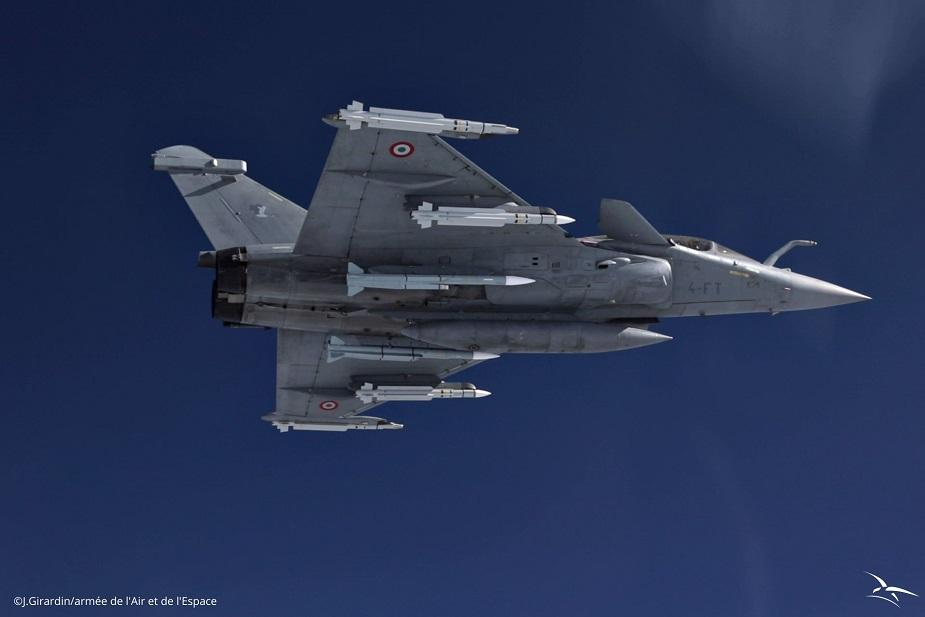 Rafale jet with meteor missile