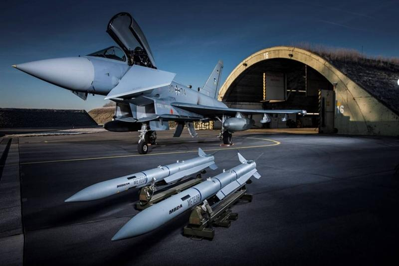 Eurofighter Typhoon with Meteor missile