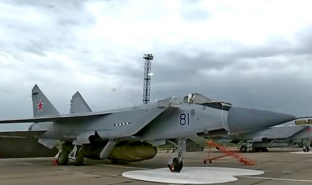 MiG-31D interceptor with mysterious missile