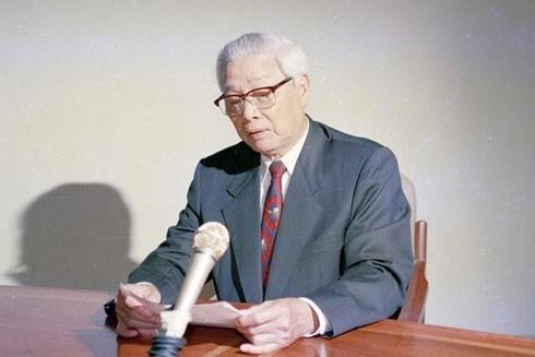 Sáng 12-7-1995, Thủ tướng Võ Văn Kiệt đọc tuyên bố thiết lập quan hệ ngoại giao với Mỹ
