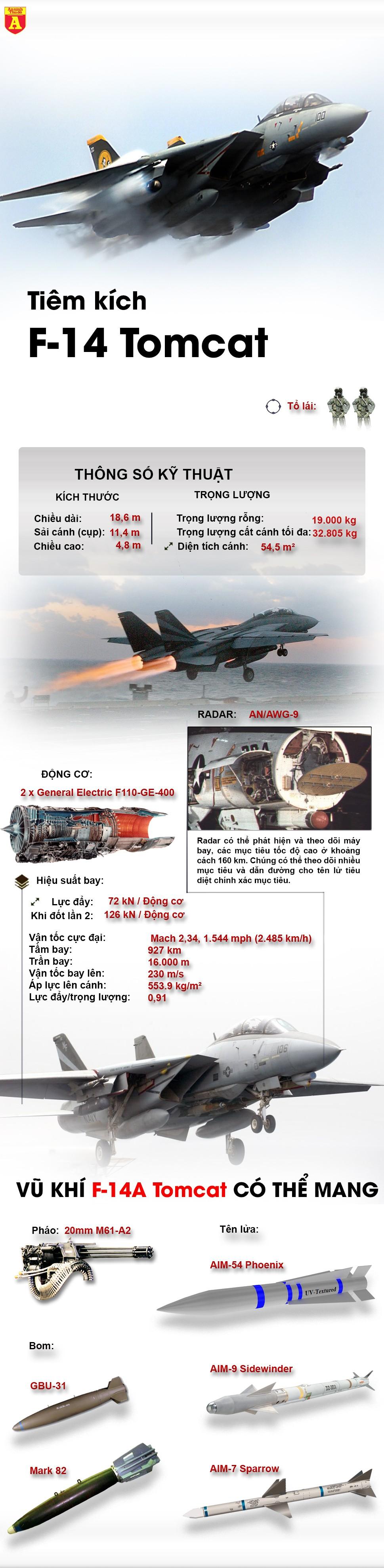 """[Infographic] Mỹ bất an khi """"Mèo đực bầu trời"""" F-14 tiếp tục tung cánh ảnh 2"""