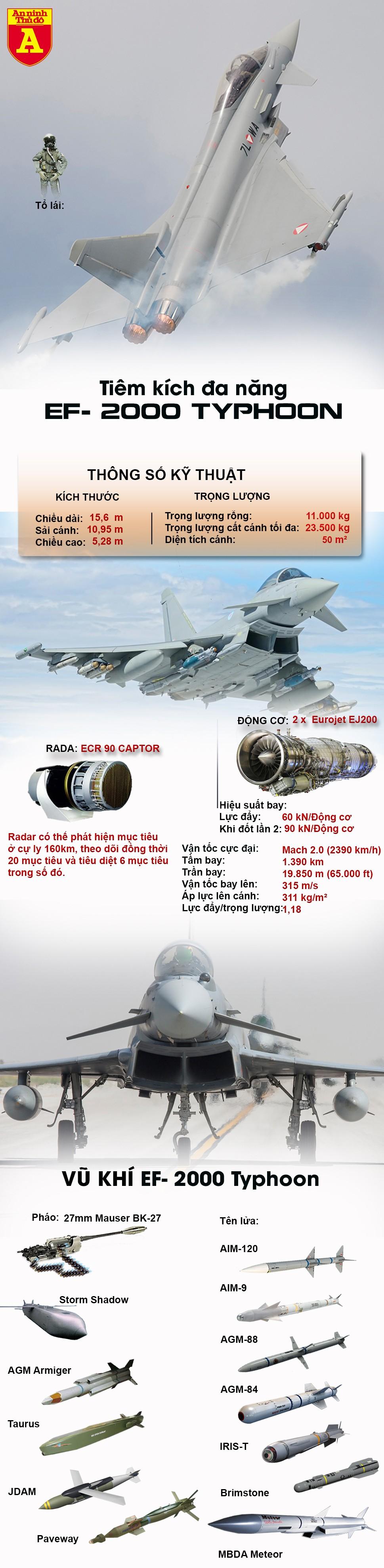 [Infographic] EF-2000, niềm tự hào của Châu Âu thất thế trước F-35 của Mỹ ảnh 4