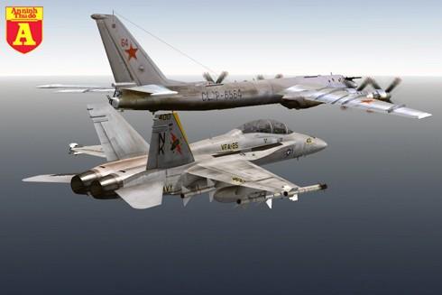 [Infographic] Khi 'Gấu bay Tu-95MS' Nga được hộ tống bởi 'Ong bắp cày F-18E/F' Mỹ ảnh 1