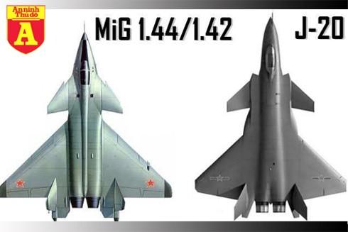 [ĐỒ HỌA] Siêu tiêm kích tàng hình J-20 Trung Quốc phải chăng là copy từ mẫu MIG-1.44 Nga? ảnh 1