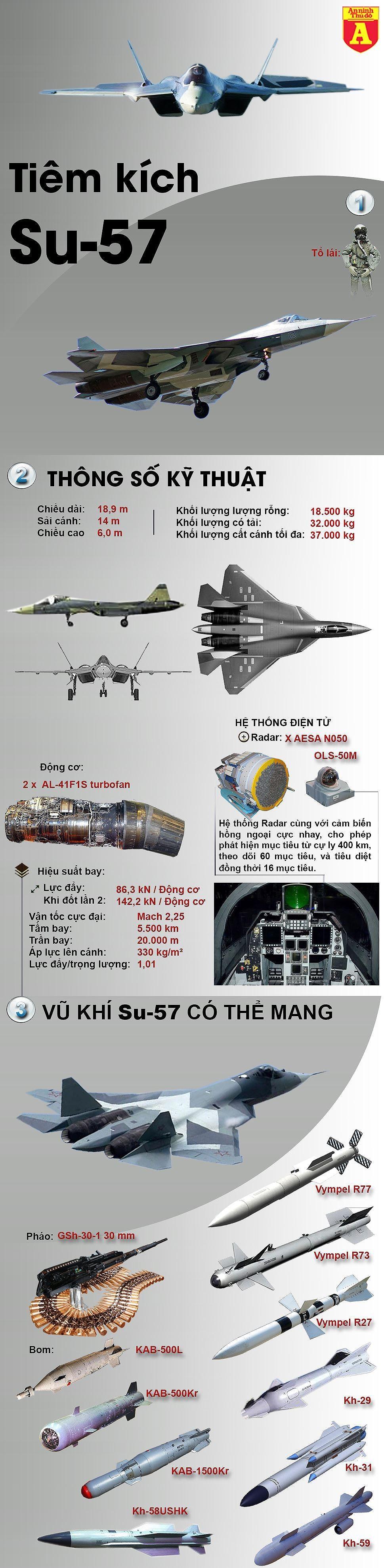 [ĐỒ HỌA] Nga bất ngờ điều gấp đôi tiêm kích Su-57 mà phương Tây dự đoán tới Syria ảnh 2