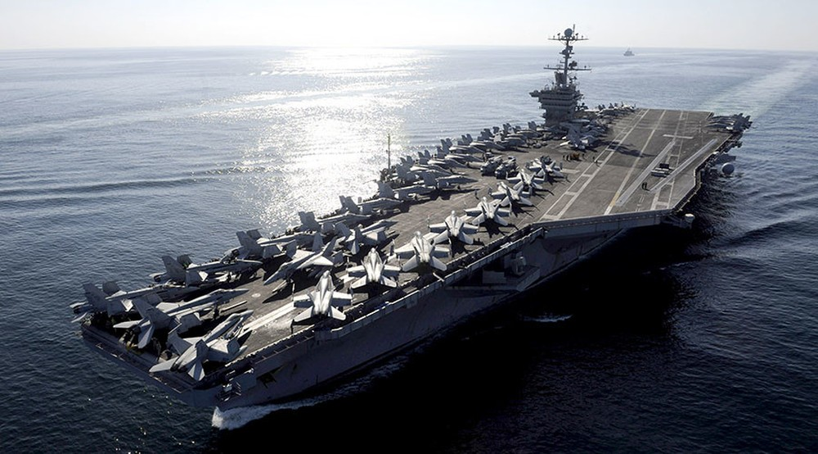 [ĐỒ HỌA] Siêu tàu sân bay Mỹ tiến vào Trung Đông, không chỉ có mình Syria, Iran lo sợ? ảnh 1