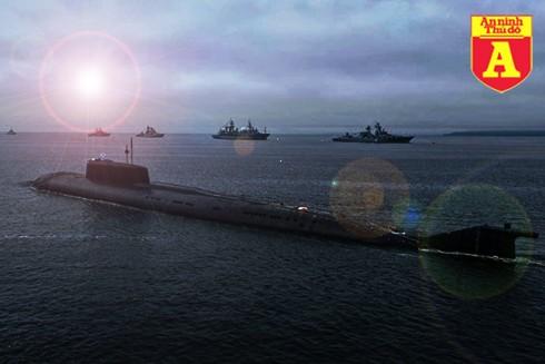 """[Info] Nga mang """"cú đấm thép trong lòng đại dương"""" Oscar II tham gia duyệt binh ảnh 1"""