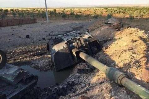 [Info] Siêu pháo tự hành mạnh nhất tại chiến trường Syria bị tên lửa Nga 'thổi tung' tháp pháo ảnh 1