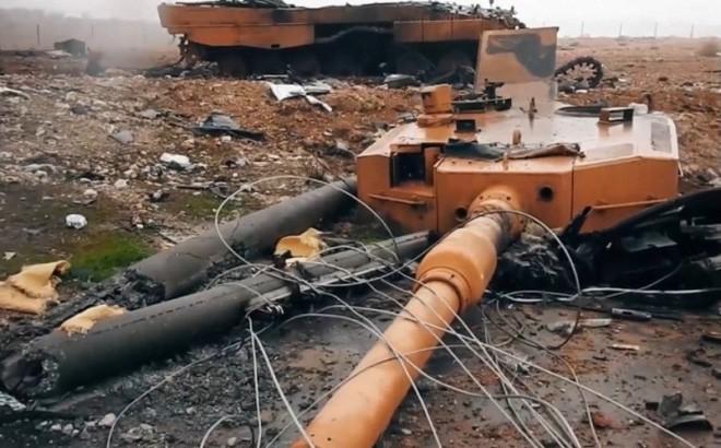 """[Info] Chiến trường Syria trở thành """"máy nghiền"""" xe tăng Leopard 2A4 Thổ Nhĩ Kỳ ảnh 1"""