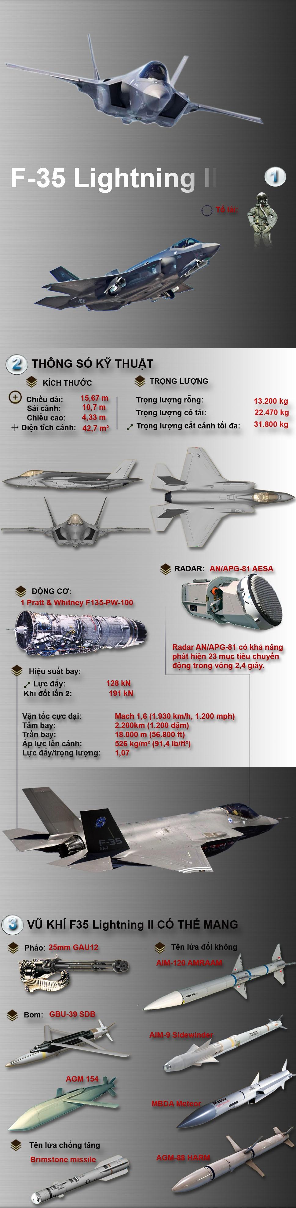 """[Infographic] F-35 Lightning II - """"dũng sĩ"""" lận đận của không lực Mỹ ảnh 1"""