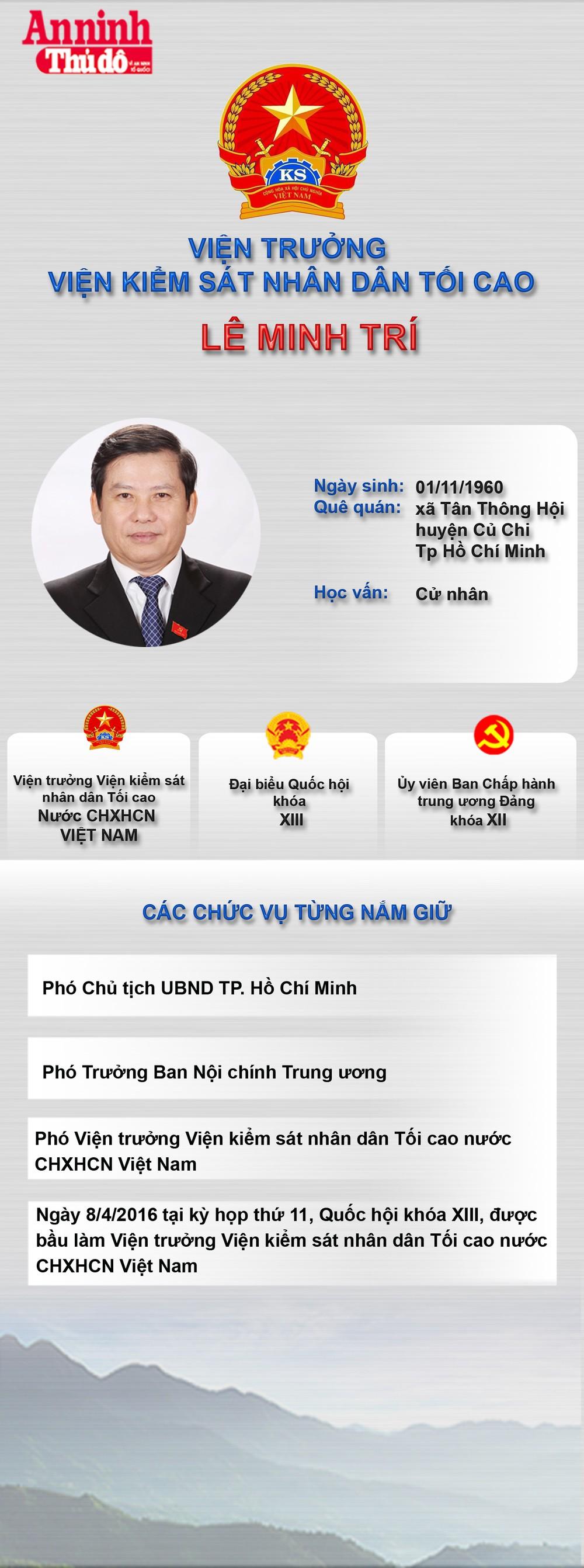 [Infographic] Viện trưởng Viện kiểm sát nhân dân tối cao Lê Minh Trí ảnh 1