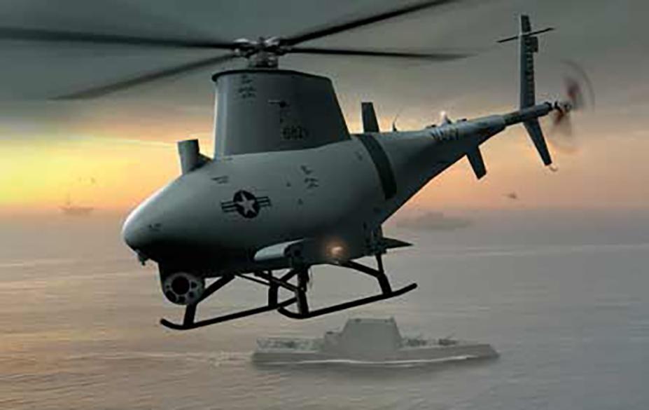 """[Info] """"Chim lửa"""" MQ-8B Hải quân Mỹ phối hợp với khu trục hạm tàng hình ảnh 1"""
