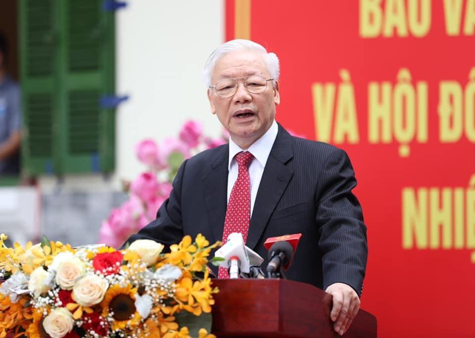 Tổng Bí thư Nguyễn Phú Trọng: Đất nước sẽ bước vào giai đoạn phát triển mới, đáp ứng nguyện vọng của cử tri ảnh 1