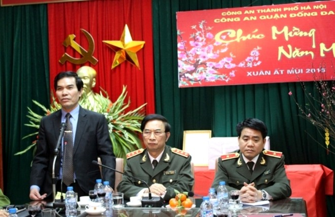Ông Nguyễn Song Hào cảm ơn sự quan tâm lãnh đạo, chỉ đạo của lãnh đạo Bộ Công an, CATP đối với CAQ Đống Đa