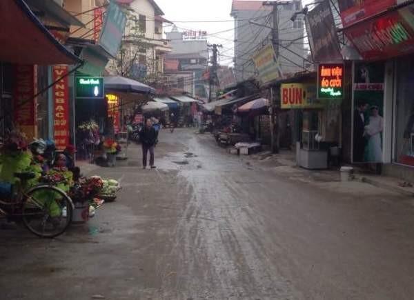 Hiện trường khu vực xảy ra vụ án mạng tại thôn Bầu