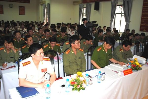 Các Đại biểu dự đại hội với tinh thần tập trung dân chủ
