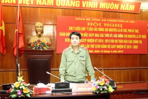 Thiếu tướng Nguyễn Đức Chung phát biểu tại Hội nghị
