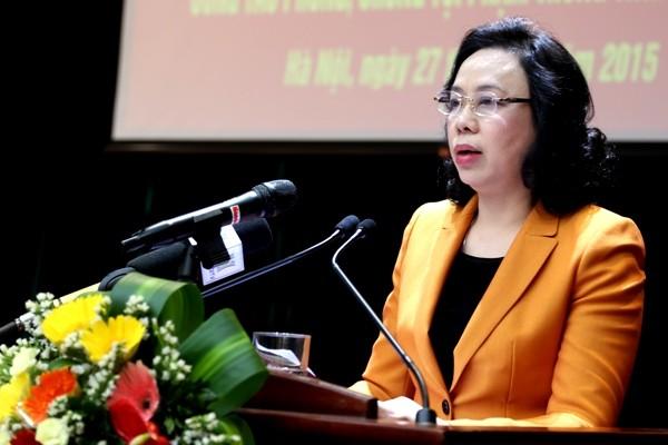 Đồng chí Ngô Thị Thanh Hằng, Phó Bí thư Thường trực Thành ủy đánh giá cao vai trò của lực lượng Công an, Quân đội trong thực hiện Chỉ thị số 48 của Bộ Chính trị