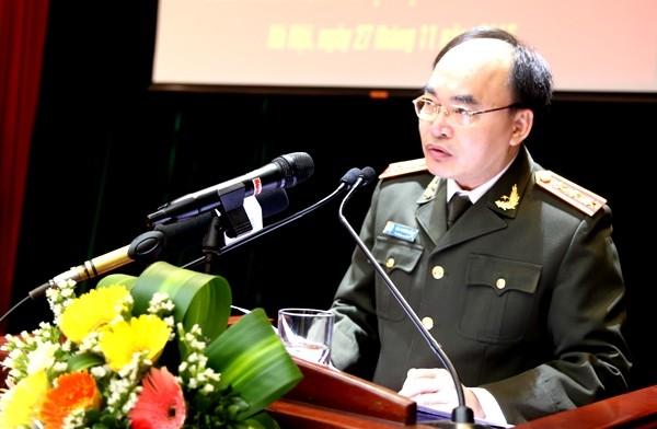 Thượng tướng Bùi Quang Bền, Thứ trưởng Bộ Công an, phát biểu chỉ đạo hội nghị