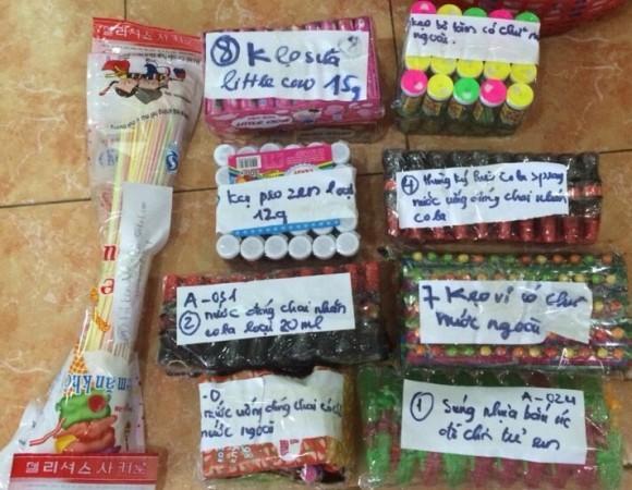 Sản phẩm hàng Trung Quốc nhập lậu do Bùi Trọng Dũng mua gom ở khu vực biên giới Việt - Trung