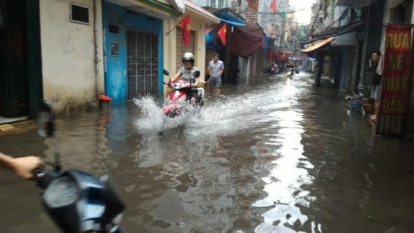 Khu H Tân Mai sau một cơn mưa dai... ảnh 10