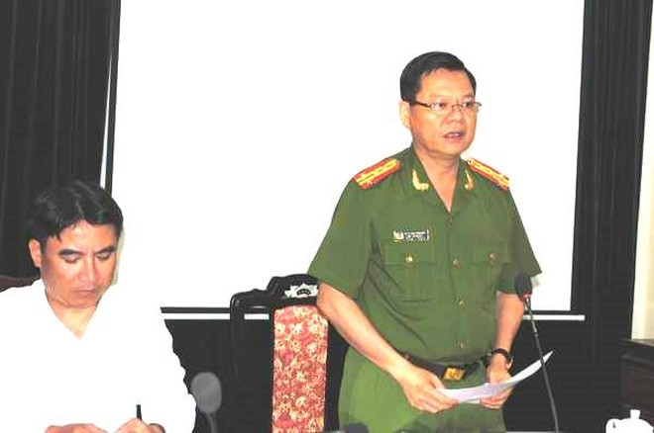Đại tá Đào Thanh Hải phát biểu chỉ đạo hội nghị