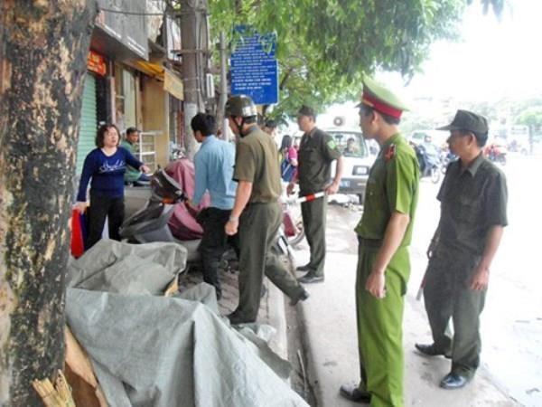 CAQ Thanh Xuân thực hiện công tác đảm bảo trật tự đô thị