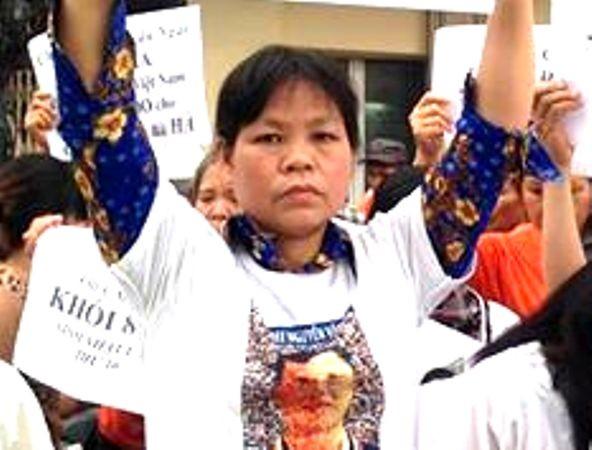 Cấn Thị Thêu chuyên cầm đầu, kích động một số người khiếu kiện chây ỳ gây rối trật tự công cộng