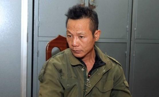 Đối tượng Nguyễn Văn Kỳ, kẻ sát hại 2 bố con ông Lương Văn Chuân, ở xã Canh Nậu, huyện Thạch Thất