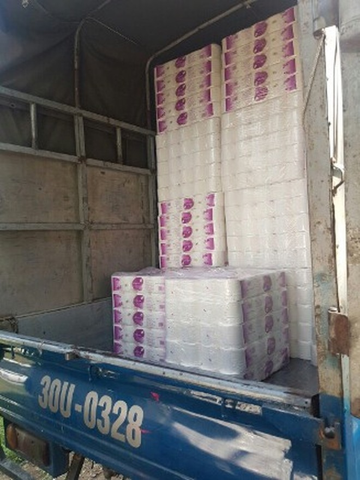 Giấy vệ sinh giả Đức khai mua trôi nổi tại huyện Đình Bảng, Bắc Ninh