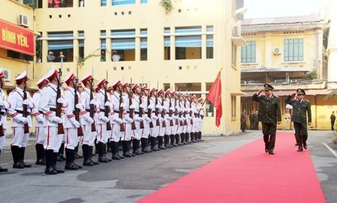 Thượng tướng Tô Lâm, Bộ trưởng Bộ Công an duyệt Đội danh dự CATP Hà Nội