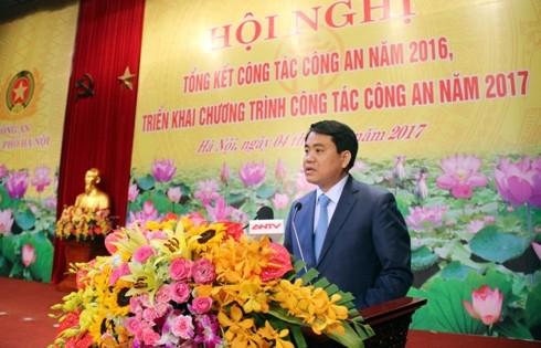 Chủ tịch UBND Thành phố Hà Nội Nguyễn Đức Chung phát biểu chỉ đạo Hội nghị