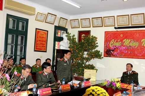 Thiếu tướng Đoàn Duy Khương tiếp thu ý kiến chỉ đạo của đồng chí Bộ trưởng Tô Lâm
