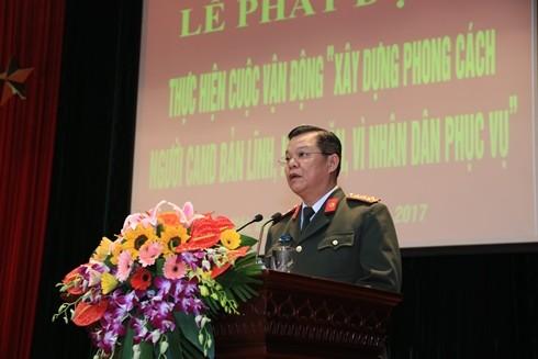 """Đại tá Đào Thanh Hải phát động thực hiện cuộc vận động """"Xây dựng phong cách người CAND bản lĩnh, nhân văn, vì nhân dân phục vụ"""""""