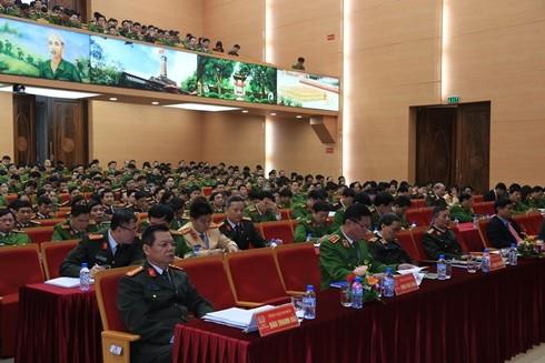 Các đại biểu tham dự hội nghị sơ kết công tác XDLL quý I - 2017 CATP Hà Nội
