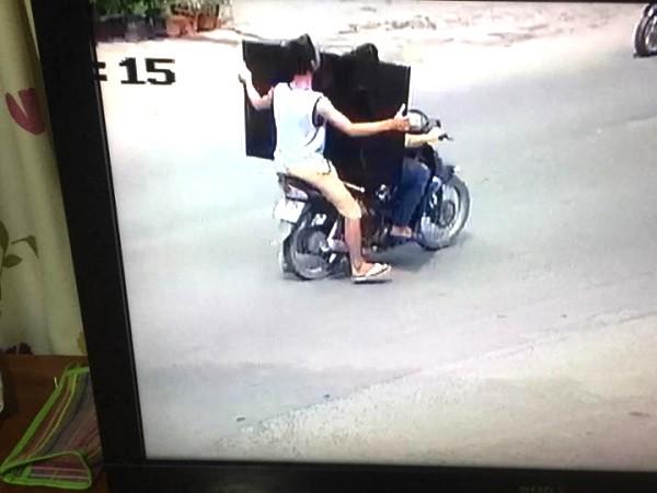 Ảnh nghi can vụ trộm được camera an ninh của nhà dân ghi lại và được lực lượng Công an xã Tiên Dược phối hợp với Công an thị trấn Sóc Sơn qua rà soát phát hiện