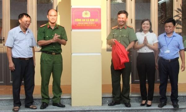 Công an huyện Sóc Sơn và đại diện chính quyền xã Kim Lũ khánh thành Nhà làm việc Công an xã Kim Lũ