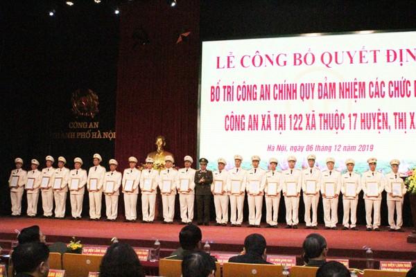Triển khai 808 cán bộ Công an chính quy về đảm nhiệm chức danh tại 122 xã