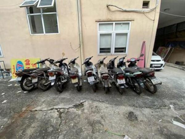 Tang vật các vụ trộm cắp xe máy do CATP Hà Nội điều tra khám phá