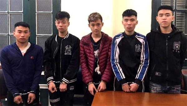 Nhóm cướp manh động vừa bị Phòng Cảnh sát hình sự phối hợp với Công an các quận Long Biên, huyện Gia Lâm bắt giữ