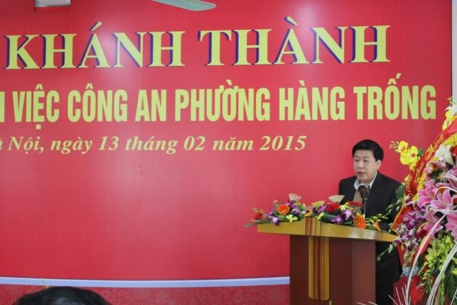 Ông Dương Đức Tuấn-Chủ tịch UBND quận Hoàn Kiếm phát biểu chúc mừng CAP Hàng Trống