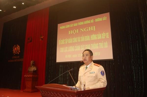 Đại tá Đào Vịnh Thắng-Trưởng phòng CSGT quán triệt tới từng vị trí CBCS yêu cầu nhiệm vụ