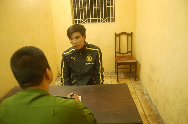 Cơ quan CSĐT CAQ Hoàn Kiếm đấu tranh với một trong ba đối tượng