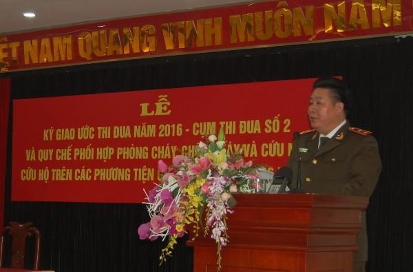 Thứ trưởng Bùi Văn Thành, Thứ trưởng Bộ Công an phát biểu chỉ đạo tại buổi lễ
