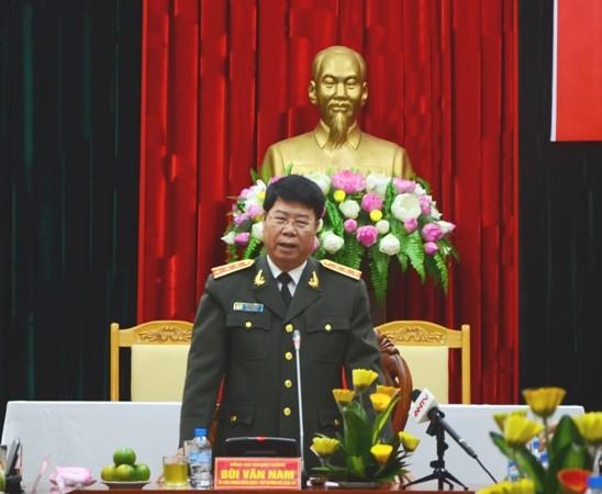 Thượng tướng Bùi Văn Nam phát biểu tại buổi lễ