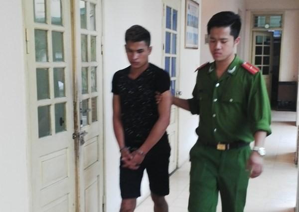 Đối tượng Lê Hữu Sơn bị CAP Yên Hòa bắt giữ