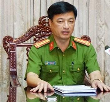 Đại tá Nguyễn Duy Ngọc, Phó Giám đốc CATP Hà Nội, Thủ trưởng Cơ quan CSĐT, CATP Hà Nội thông tin vụ việc xảy ra trên cầu Nhật Tân với báo chí